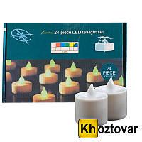 Набор светодиодных свечей   24 штуки