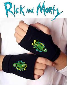 Митенки перчатки без пальцев Рик и Морти Rick and morty