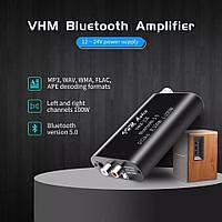 Підсилювач TPA3116 100W X2 Bluetooth 5.0 AUX USB плеєр MINI VHM338 Бездротовий аудіо 2.0 Стерео 12-24в, фото 1