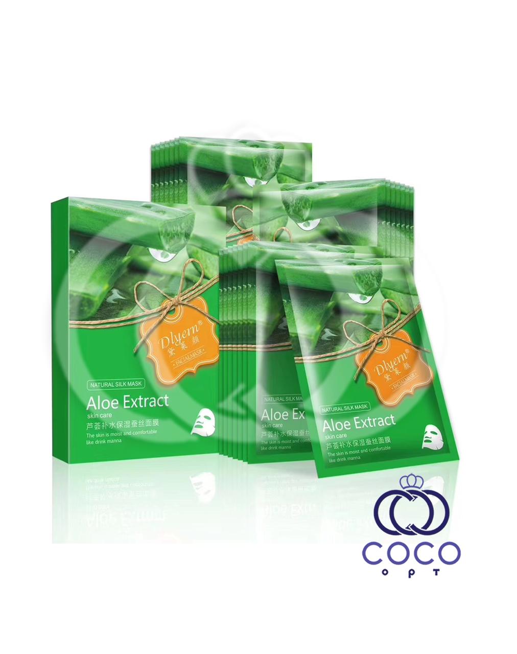 Тканевая маска Aloe Exstract Skin Care с алоэ и водорослями поштучно