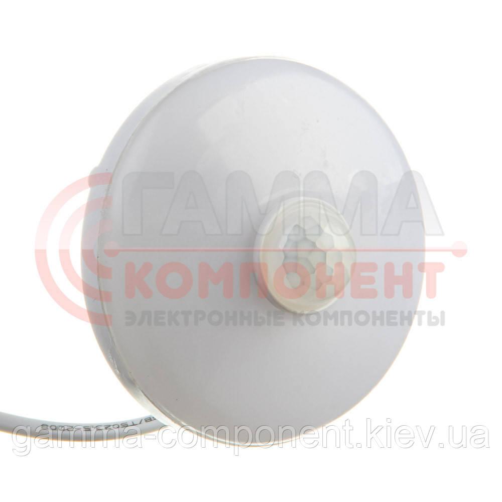 Светодиодный светильник с датчиком движения накладной ЖКХ2 9Вт, круглый, холодный белый, IP44