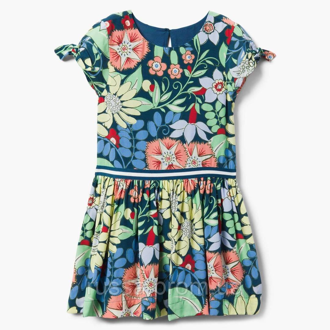 Летнее платье с цветами Gymboree для девочки