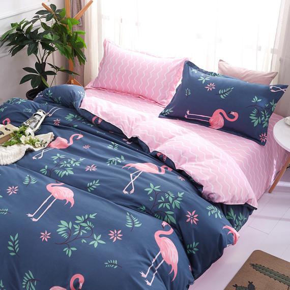 """Комплект постельного белья из ранфорса ТМ """"Ловец снов"""", Фламинго розовый"""
