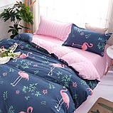 """Комплект постельного белья из ранфорса ТМ """"Ловец снов"""", Фламинго розовый, фото 2"""