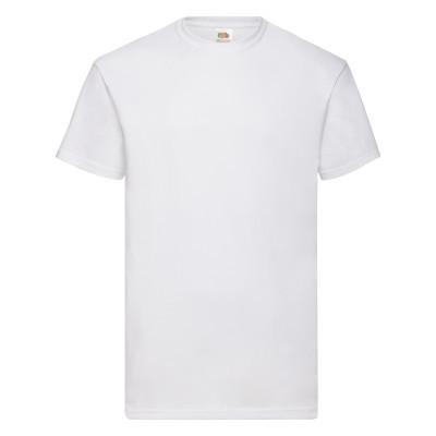 Однотонная мужская хлопковая футболка из хлопка белая