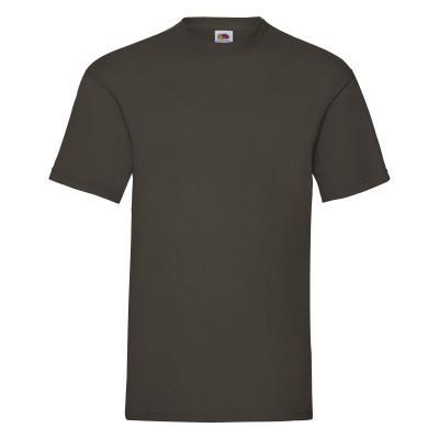 Хлопковая молодежная мужская футболка цвет шоколад (темно-коричневая)