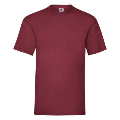 Кирпично-красная мужская летняя футболка под принт