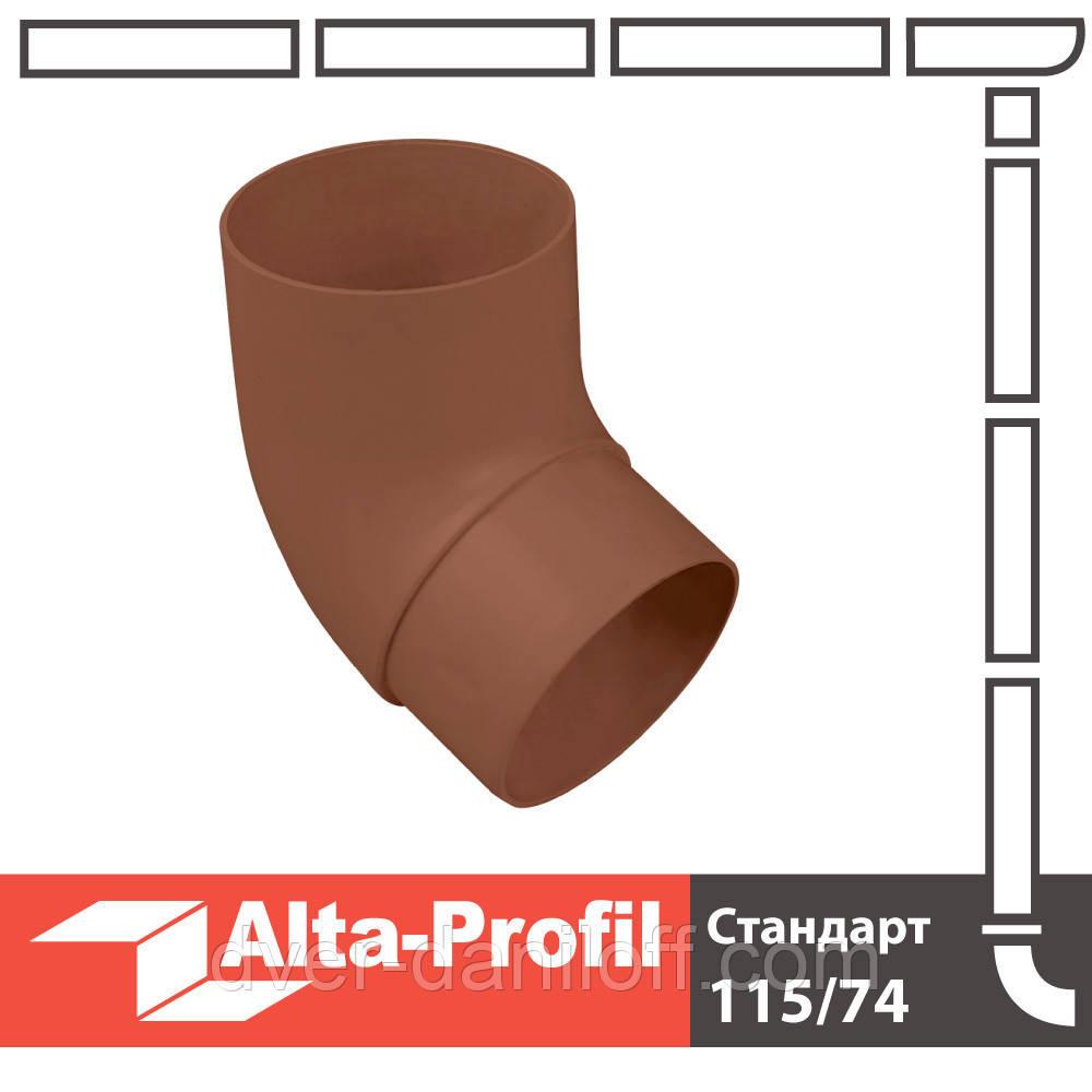 Колено трубы Альта-Профиль Стандарт 67 градусов 74 мм коричневый