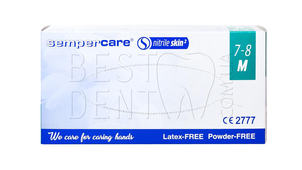 Рукавички SEMPER CARE нітрилові, 200 шт/упак(M)