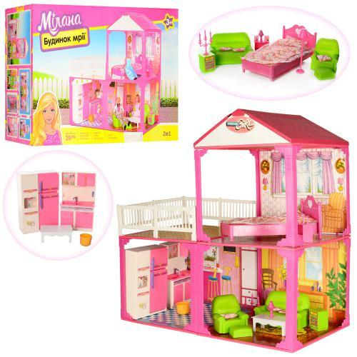 """Домик для """"Барби"""" в коробке 60-42-18 см - фото 1"""