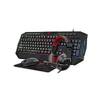 Игровой набор HAVIT Клавиатура+Мышка+Коврик+Наушники  HAVIT KB501CM 4 IN 1 COMBO