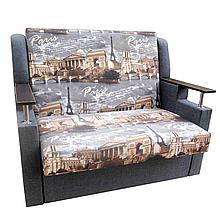 Диван - ліжко Березня 110см (Париж+сірий). Дитячий диван з нішею для білизни