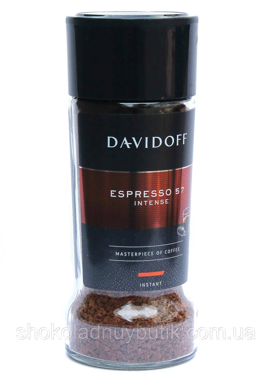 Кофе растворимый Davidoff Espresso 57 Intense 100 г в стеклянной банке