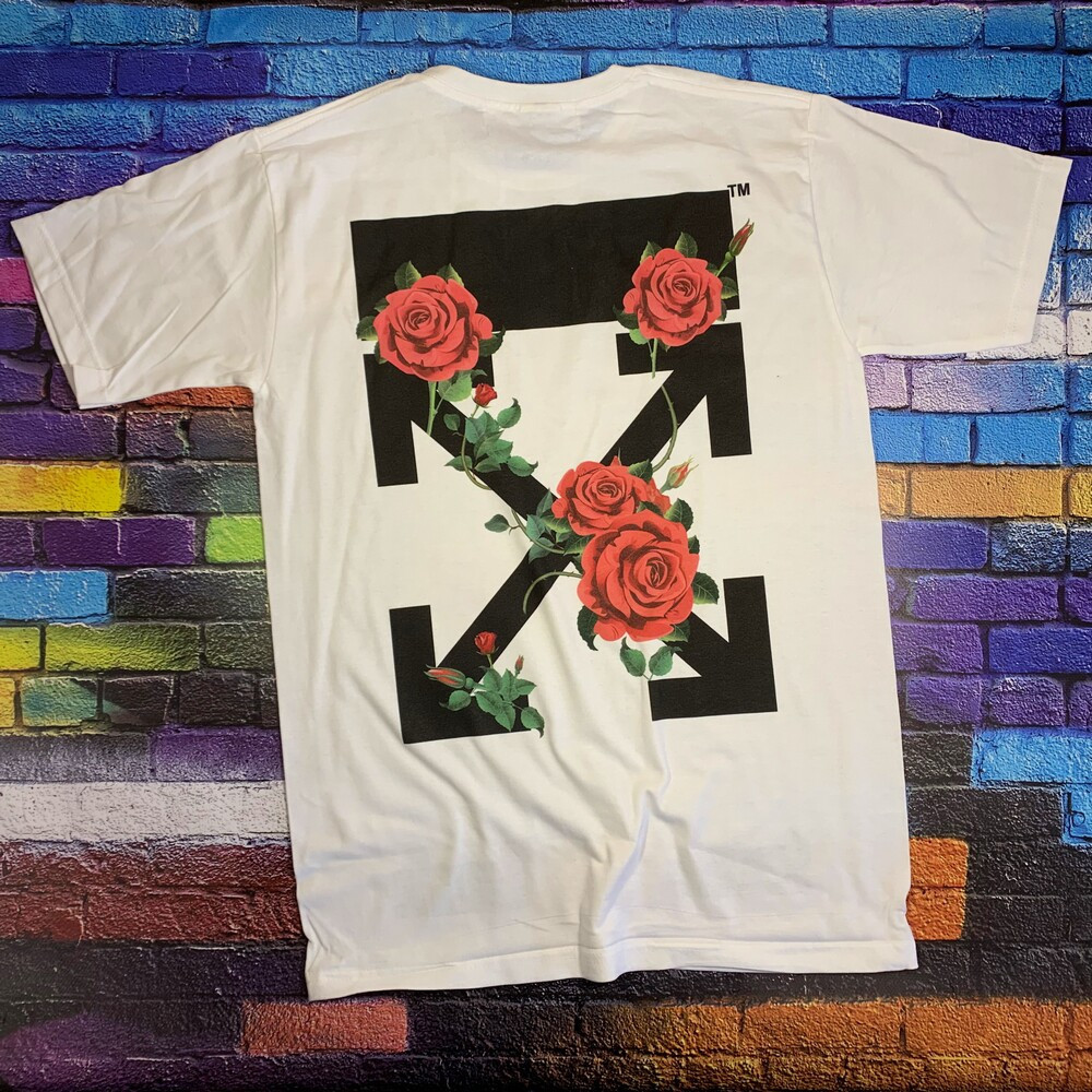 Футболка белая LOYS Off White roses S