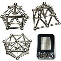 Магнитный конструктор Zoyo  68 деталей из магнитных цилиндров и металлических шариков