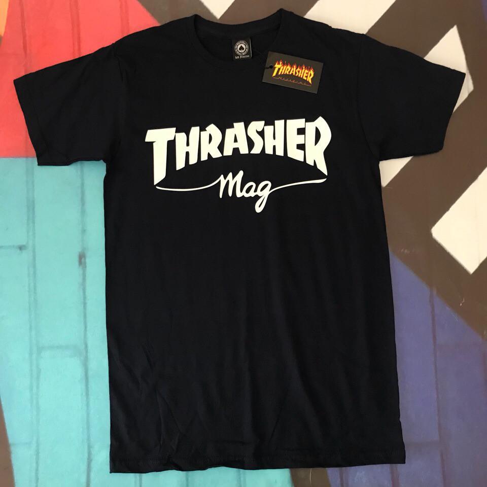Футболка чёрная LOYS Thrasher Mag S