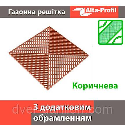 Решетка с дополнительным обрамлением коричневая, фото 2