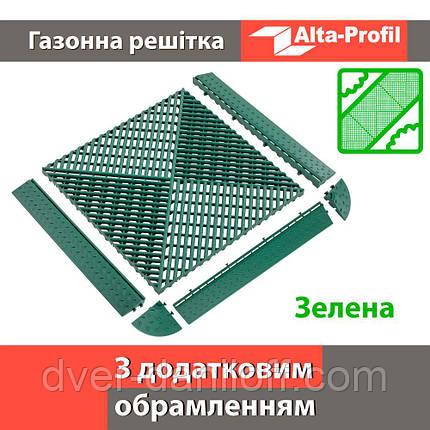 Решетка с дополнительным обрамлением зеленая, фото 2