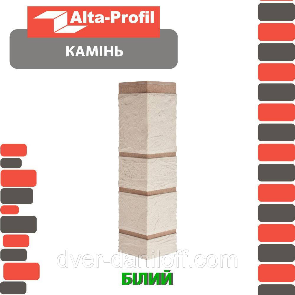 Зовнішній кут Альта-Профіль Камінь 0,472х0,112 м білий