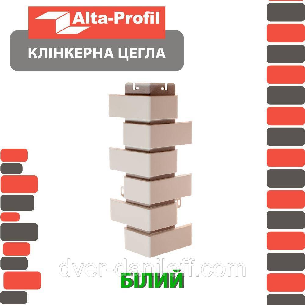 Наружный угол Альта-Профиль Клинкерный кирпич 0,445х0,125 м белый