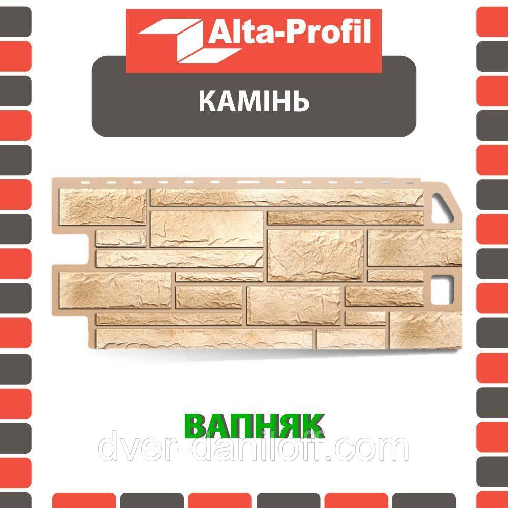 Фасадная панель Альта-Профиль Камень 1130х470х20 мм Известняк