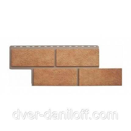 Фасадна панель Альта-Профіль Камінь Неаполітанська 1250х450х26 мм бежевий, фото 2