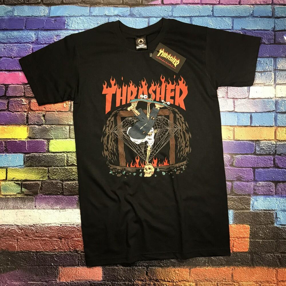 Футболка чорна LOYS Thrasher Hallowean S