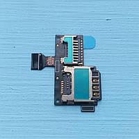 Держатель sim-карты для Samsung Galaxy S4 Mini i9190 i9195 c коннектором карты памяти