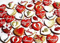 Лучший подарок на День Влюблённых - расписной медовый имбирный пряник Ассорти