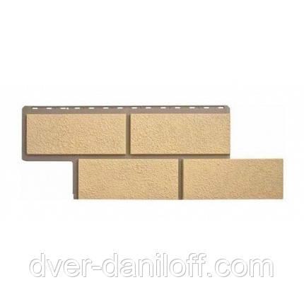 Фасадная панель Альта-Профиль Камень Неаполитанский 1250х450х26 мм песочний, фото 2