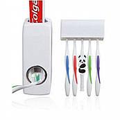 Дозатор зубной пасты с подставкой для щеток. Диспенсер для зубной пасты держатель зубных щеток