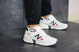 Кроссовки мужские New Balance 574 замшевые низкие кросы на шнуровке, бежевые, ТОП-реплика