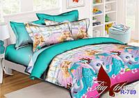 Комплект постельного белья Принцесса Барби ТМ TAG 1,5 спальный комплект