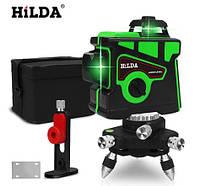 Лазерный уровень/лазерный нивелир 3D Hilda ЗЕЛЕНЫЙ ЛАЗЕР