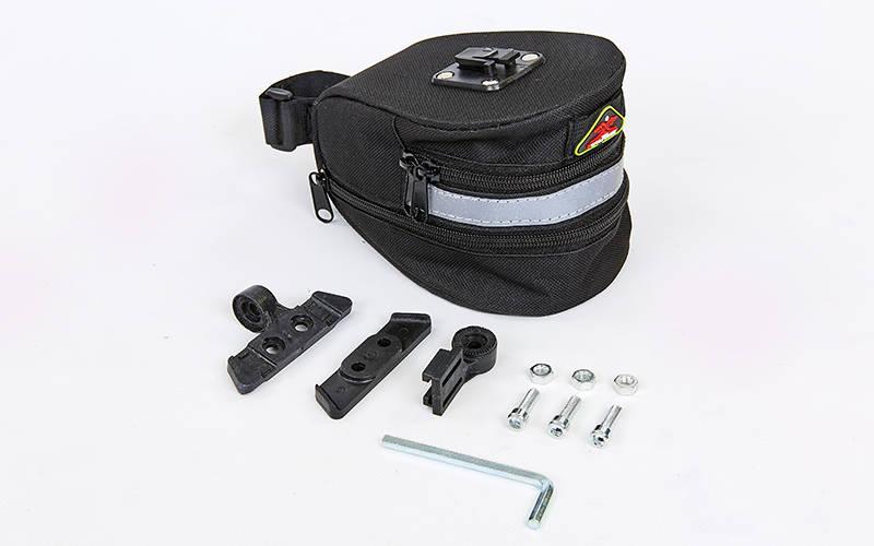 Сумка на багажник велосипеда (PL, 8x10x10,5см, черный) PZ-TQ-2501