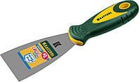 Шпательная лопатка 65 мм KRAFTOOL  с 2-компонент ручк, профилиров нержав полотно 10035-065