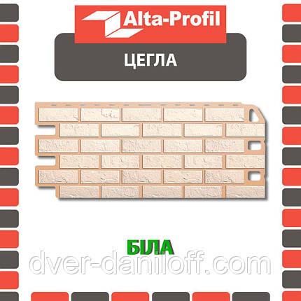 Фасадная панель Альта-Профиль Кирпич 1130х470х20 мм Белый, фото 2