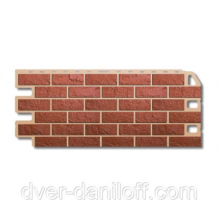 Фасадная панель Альта-Профиль Кирпич 1130х470х20 мм Красный, фото 2