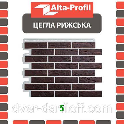 Фасадная панель Альта-Профиль Кирпич Рижский 795х591х20 мм цвет 05, фото 2