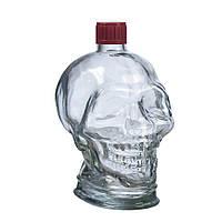 Бутылка стеклянная для крепких напитков 1л «Череп»