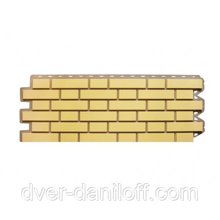 Фасадная панель Альта-Профиль Клинкерный кирпич 1220х440х20 мм Желтый, фото 2