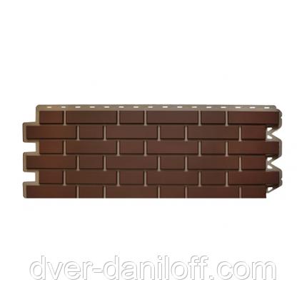 Фасадная панель Альта-Профиль Клинкерный кирпич 1220х440х20 мм Коричневый, фото 2