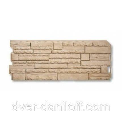 Фасадна панель Альта-Профіль Скелястий камінь 1170х450х20 мм Анди, фото 2