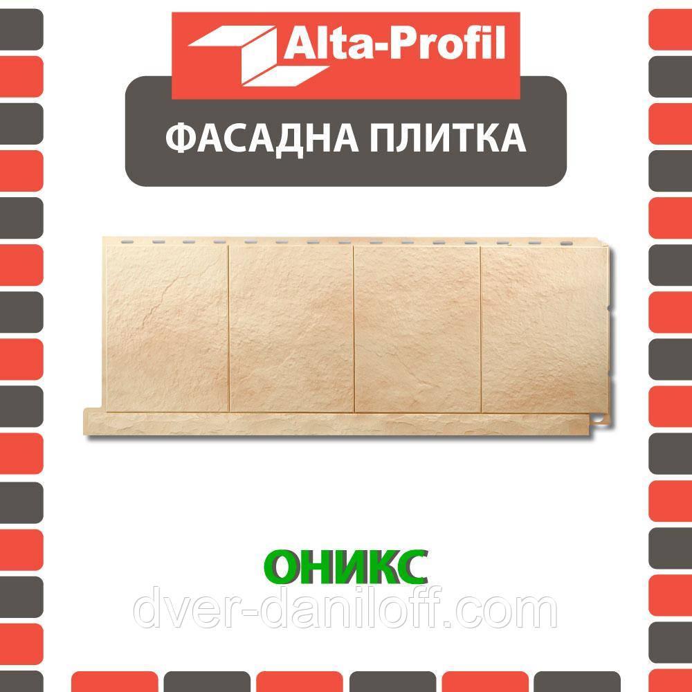 Фасадная панель Альта-Профиль Фасадная плитка 1130х450х20 мм Оникс