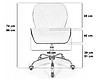 Офисное кресло, Кресло для мастера на колесиках  ЭкоКожа, фото 3