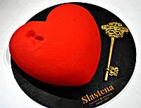 Лучший подарок к Дню влюблённых - Торт Сердце с ключем