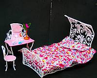 """Мебель для кукол """"Глория"""". Спальня. Мебель для Барби."""