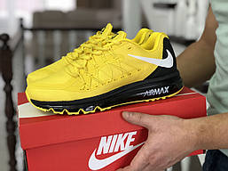 Кроссовки мужские Nike Air Max 2015 яркие стильные спортивные найки в желтом цвете, ТОП-реплика
