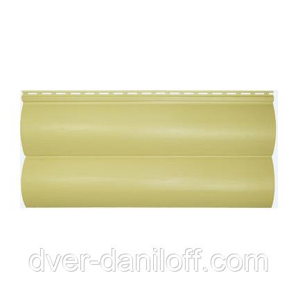 Сайдинг виниловый Альта-Профиль BlockHouse Slim двухпереломный 3660х230x11 мм бежевый, фото 2