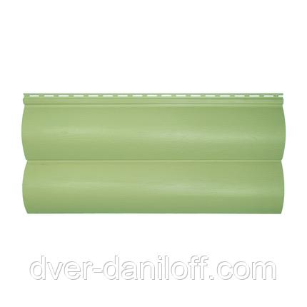 Сайдинг виниловый Альта-Профиль BlockHouse Slim двухпереломный 3660х230x11 мм кремовый, фото 2